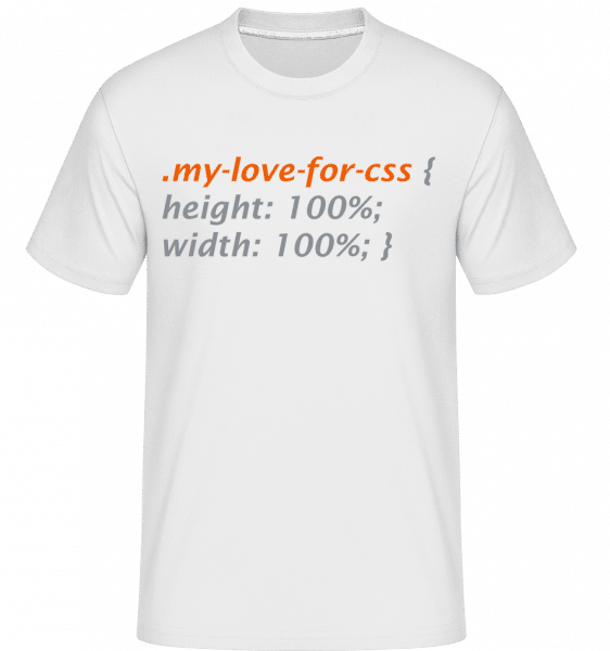 My Love For CSS -  Shirtinator Men's T-Shirt - White - Vorn