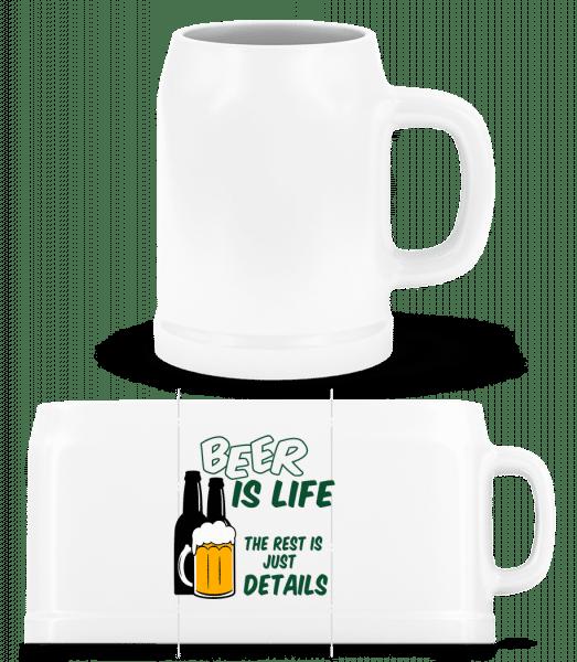 Beer Is Life - Beer Mug - White - Vorn