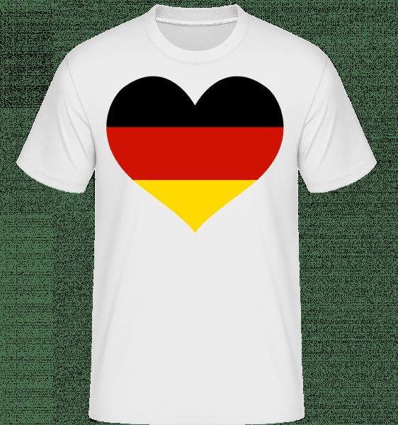Deutschland Fahne Herz - Shirtinator Männer T-Shirt - Weiß - Vorn