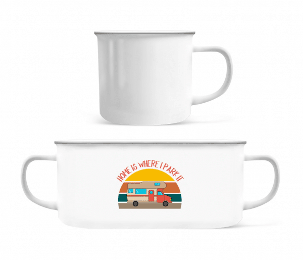 Home Is Where I Park It - Enamel-cup - White - Front