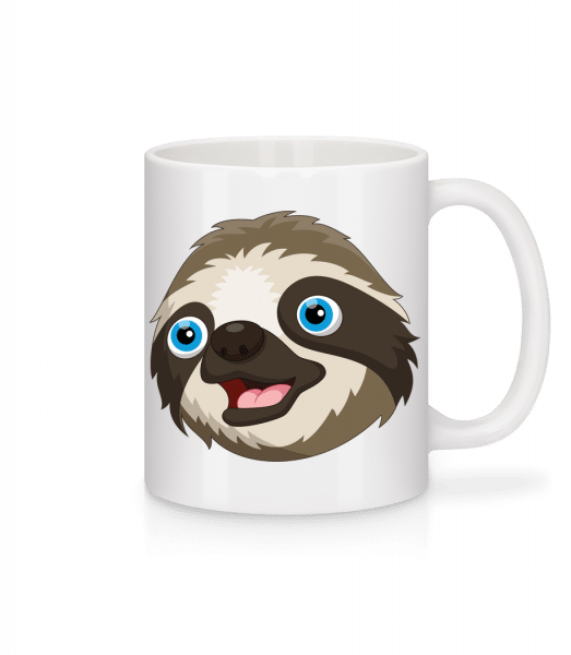 Cute Sloth - Keramický hrnek - Bílá - Napřed