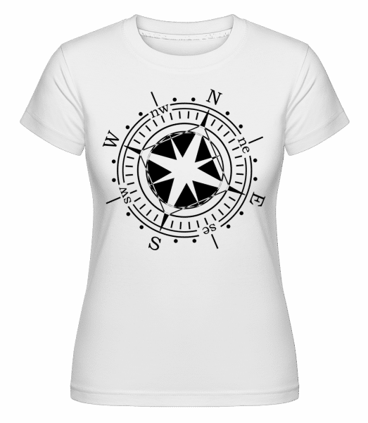 Compass -  Shirtinator Women's T-Shirt - White - Vorn