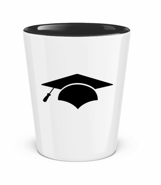 Graduation Cap - Two-Toned Shot Glass - White - Vorn