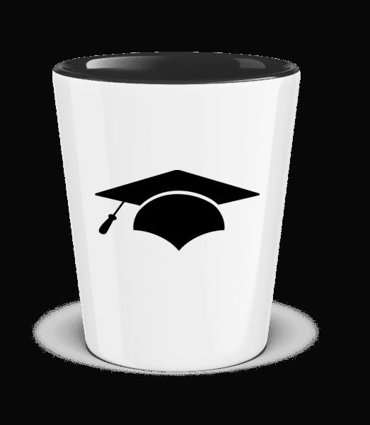 Graduation Cap - Dvojfarebný panák - Čiernobiela - Predné