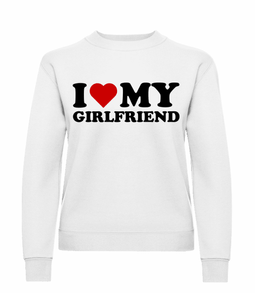 I Love My Girlfriend - Women's Sweatshirt - White - Vorn