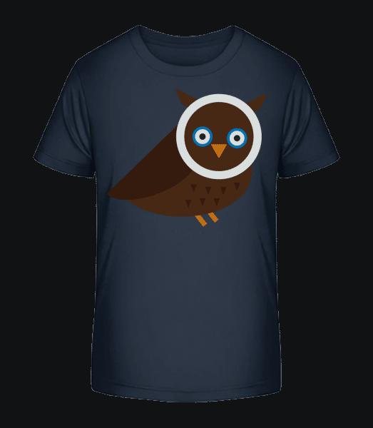 Owl Image - Kid's Premium Bio T-Shirt - Navy - Vorn