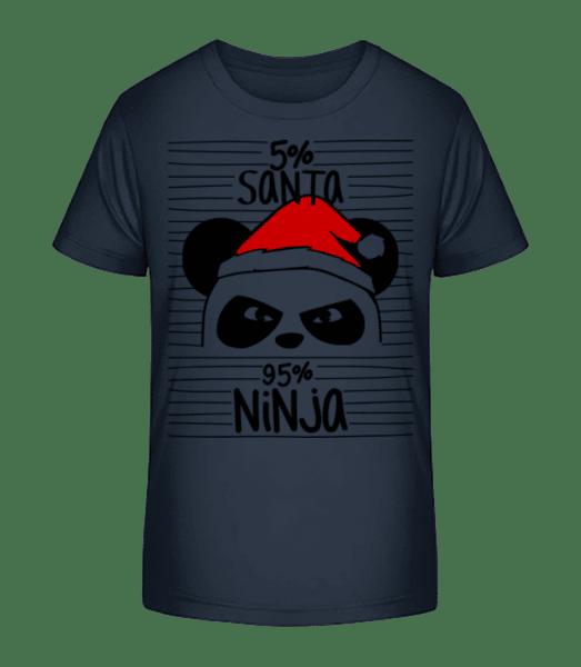Santa Ninja Panda - Kid's Premium Bio T-Shirt - Navy - Vorn