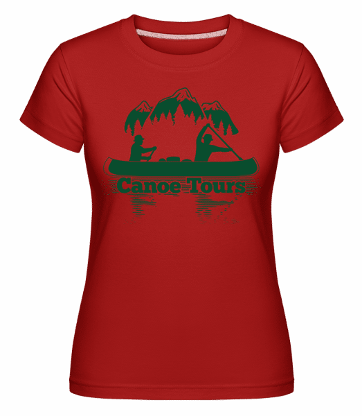 Canoe Tours Mountains -  Shirtinator Women's T-Shirt - Red - Vorn