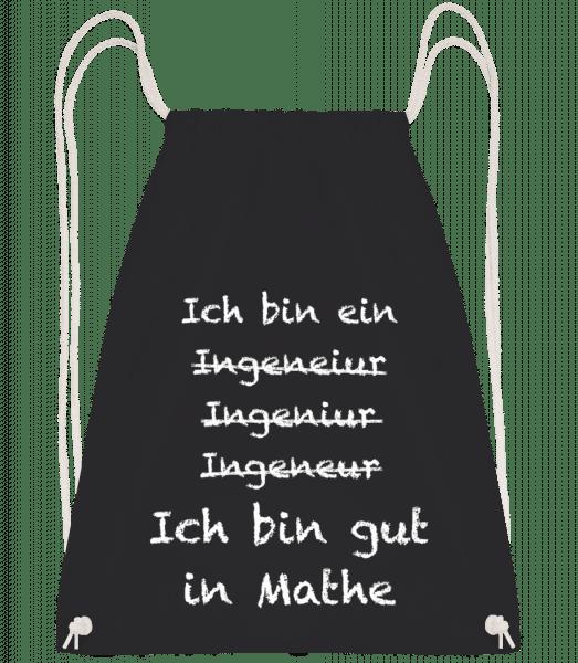 Ingenieur Mathe - Turnbeutel - Schwarz - Vorn