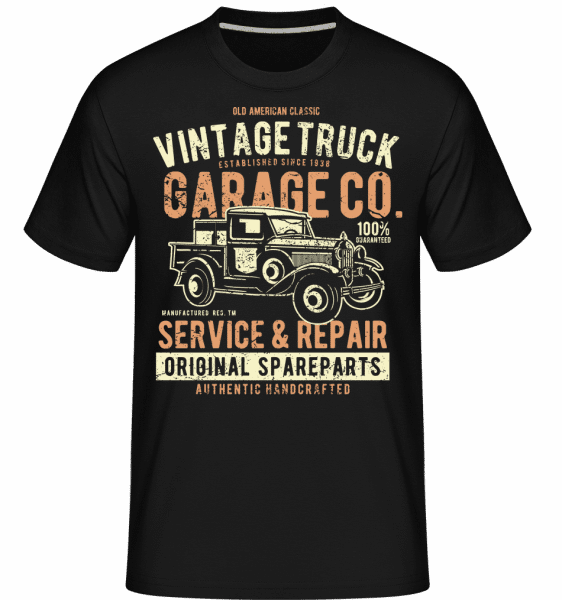Vintage Truck -  Shirtinator Men's T-Shirt - Black - Front