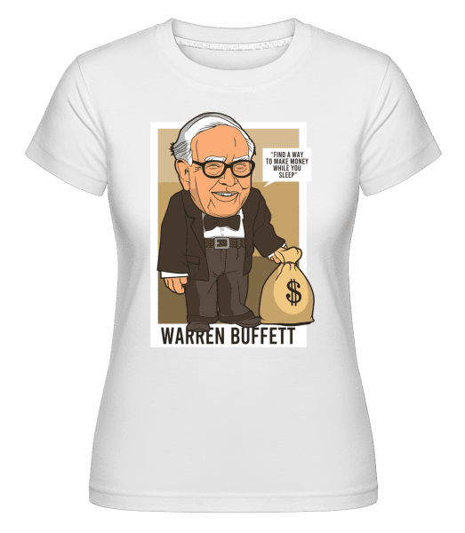 Warren Buffet Up Carl -  Shirtinator Women's T-Shirt - White - Vorn