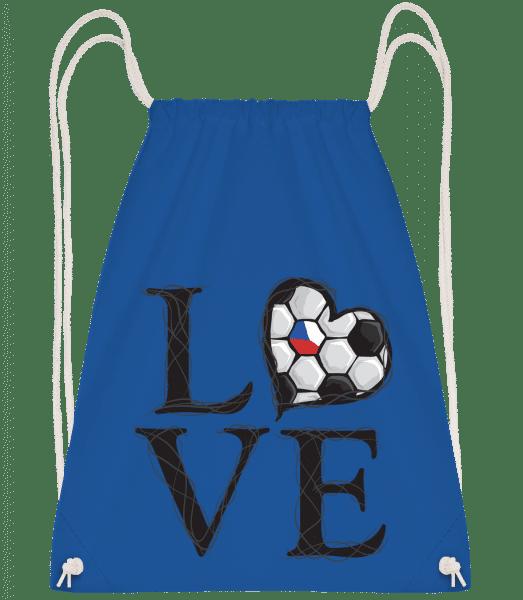 Football Love Czech Republic - Drawstring Backpack - Royal blue - Vorn