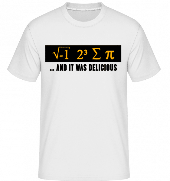 Delicious Mathematics - Shirtinator Männer T-Shirt - Weiß - Vorn