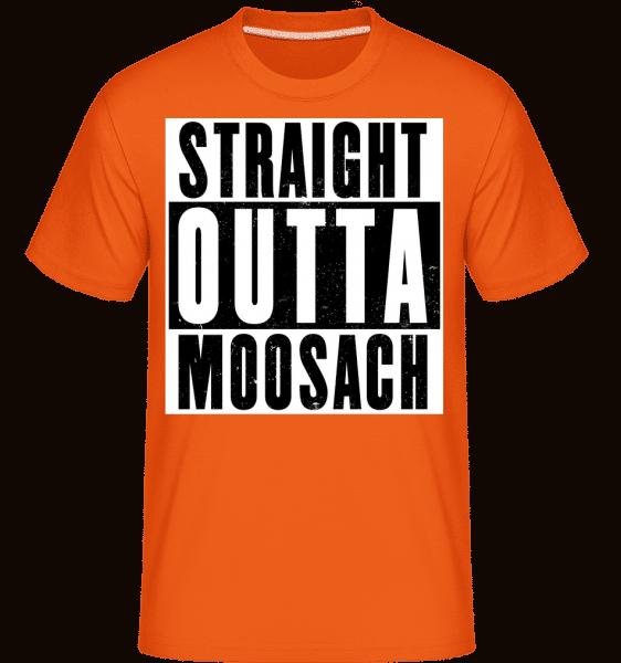 Straight Outta Moosach - Shirtinator Männer T-Shirt - Orange - Vorn