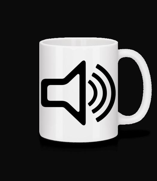 Speaker icon - Mug - White - Front
