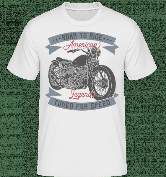 Born To Ride -  Shirtinator Men's T-Shirt - White - Front