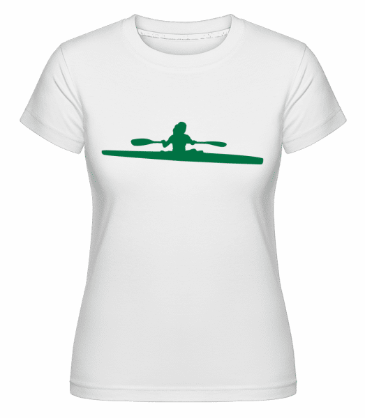 Kayak Shape Green -  Shirtinator Women's T-Shirt - White - Vorn