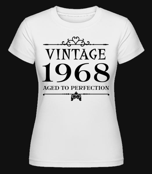 Vintage 1968 Perfection -  Shirtinator tričko pro dámy - Bílá - Napřed