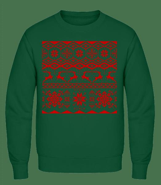 Christmas Pattern - Men's Sweatshirt AWDis - Bottle green - Vorn