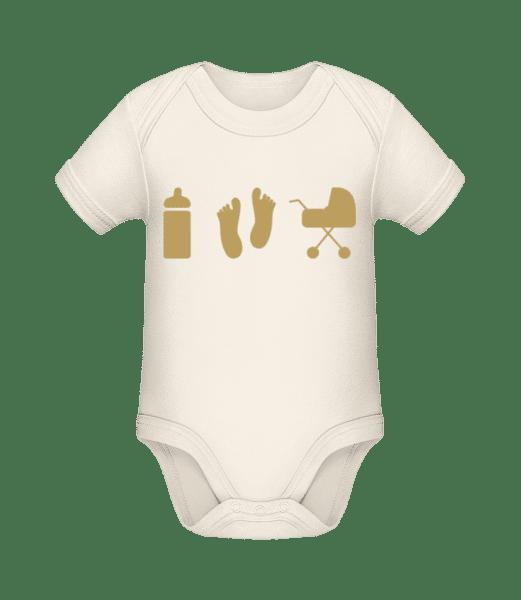 Baby Motifs - Organic Baby Body - Cream - Vorn