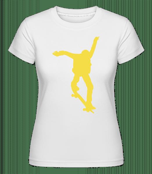 Skater Jump -  Shirtinator Women's T-Shirt - White - Vorn