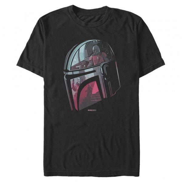 Helmet Explanation - Star Wars Mandalorian - Men's T-Shirt - Black - Front
