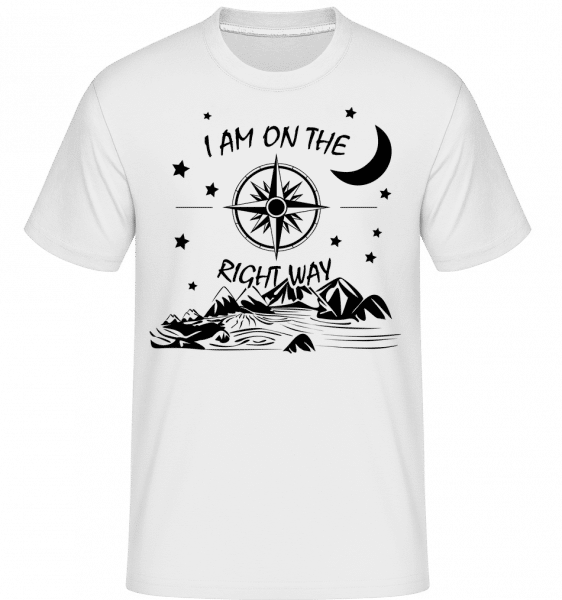 I Am On The Right Way -  Shirtinator Men's T-Shirt - White - Vorn