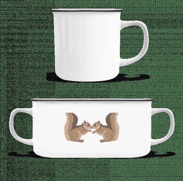 Squirrels - Enamel-cup - White - Vorn
