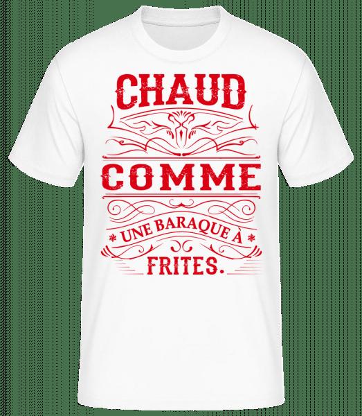 Comme Une Baraque À Frites - T-shirt standard Homme - Blanc - Devant