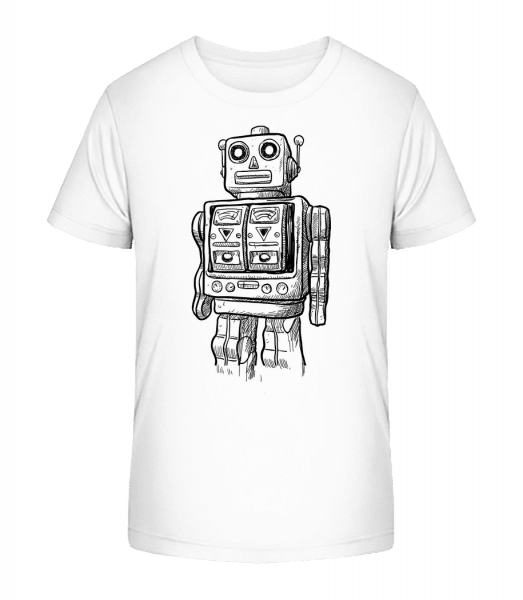 Baby Robot - Kid's Premium Bio T-Shirt - White - Vorn