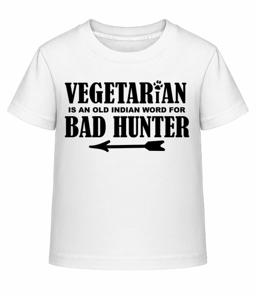 Vegetarian Bad Hunter - Kinder Shirtinator T-Shirt - Weiß - Vorn