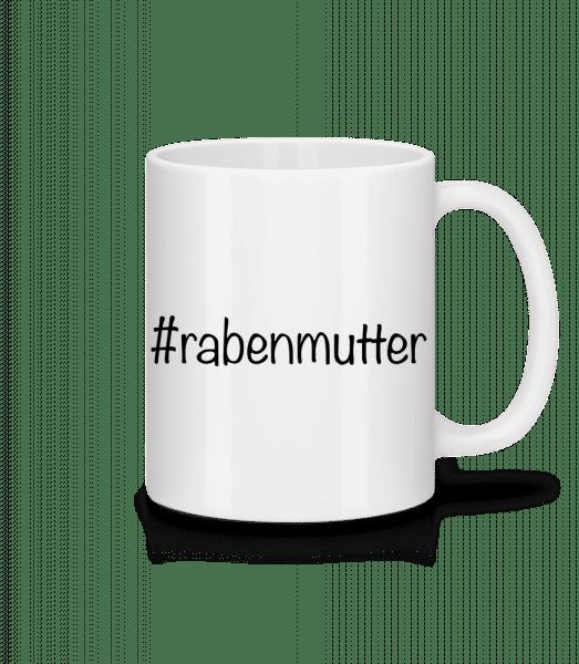Rabenmutter Hashtag - Tasse - Weiß - Vorn
