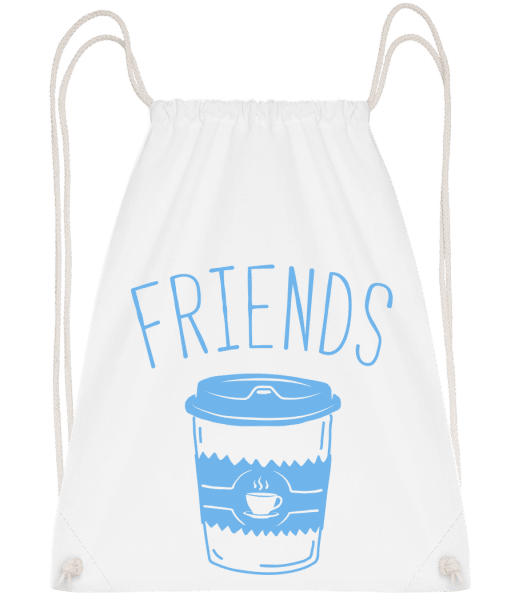 Friends Coffee - Sac à dos Drawstring - Blanc - Vorn
