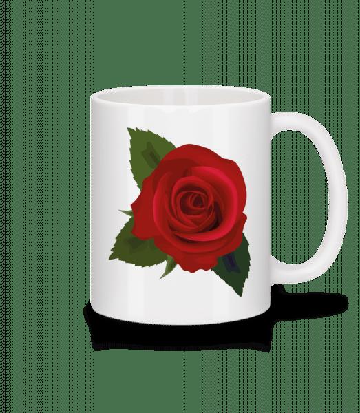 Rose Red - Mug - White - Vorn