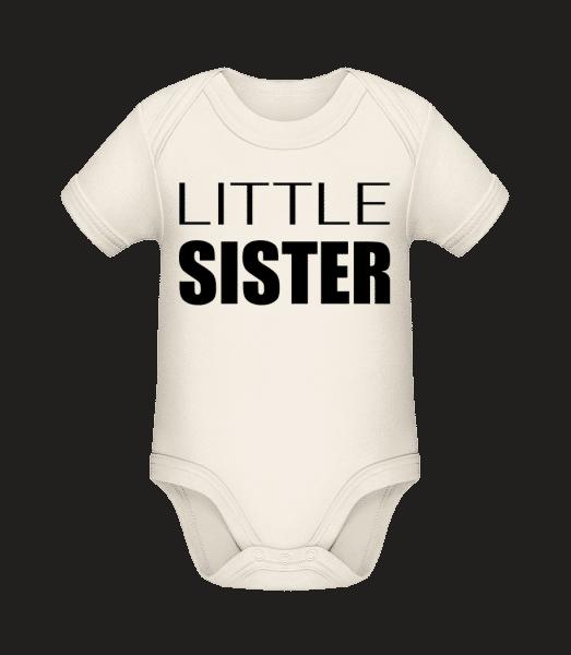 Little Sister - Baby Bio Strampler - Creme - Vorn