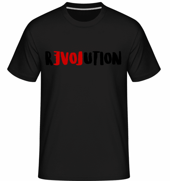Revolution - Shirtinator Männer T-Shirt - Schwarz - Vorn