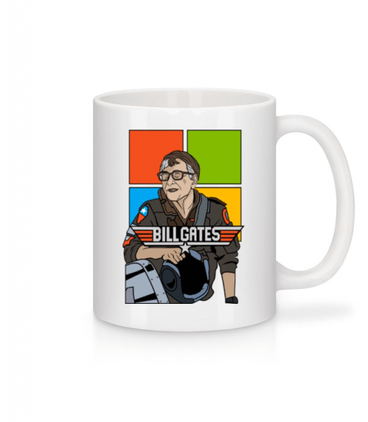 Bill Gates Top Gun - Mug - White - Front