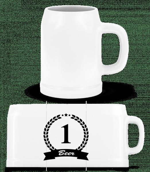 Number One Beer - Beer Mug - White - Front