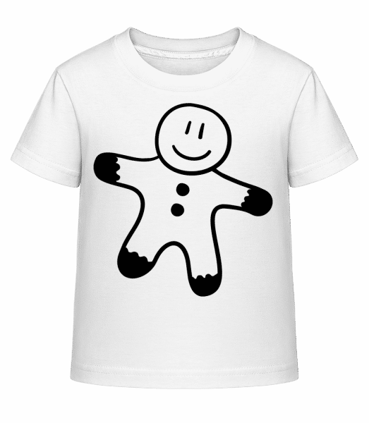 Muž perníku - Dĕtské Shirtinator tričko - Bílá - Napřed