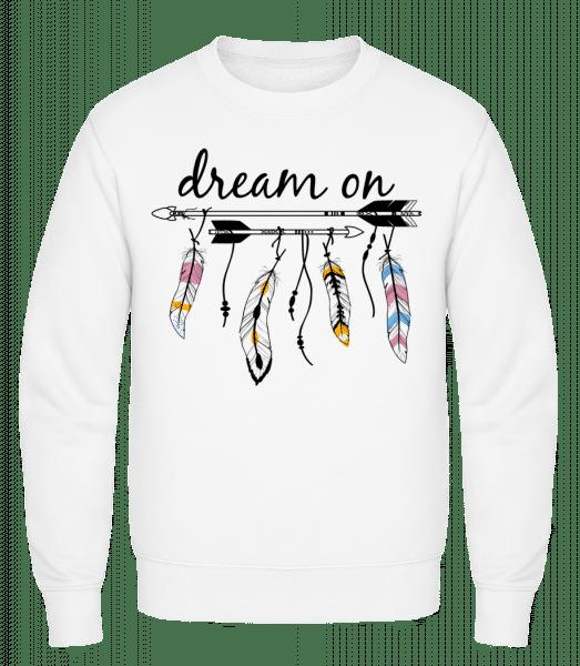 Dream On - Classic Set-In Sweatshirt - White - Vorn