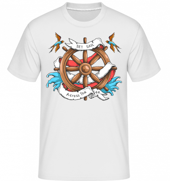 Set Sail Across The Sea -  Shirtinator Men's T-Shirt - White - Front
