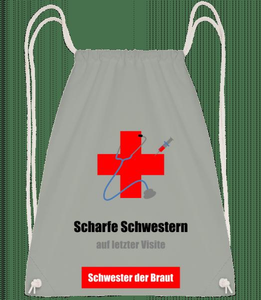 Scharfe Schwester Der Braut - Turnbeutel - Anthrazit - Vorn