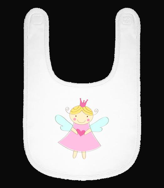 Little Fairy Princess - Baby Bib - White - Vorn