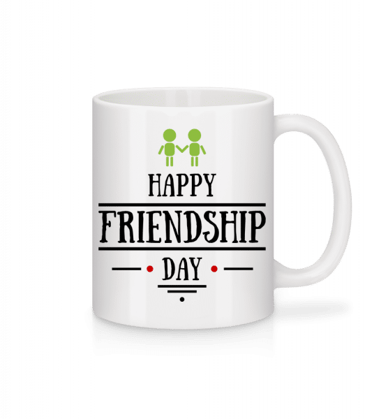 Happy Friendship Day - Mug - White - Vorn