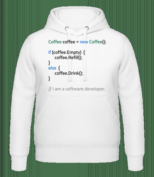 Coffee Loop - Hoodie - White - Vorn