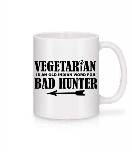 Vegetarian Bad Hunter - Mug - White - Vorn