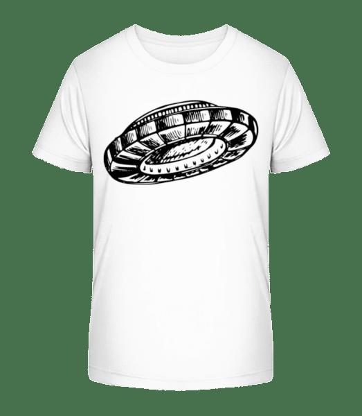Ufo - Kinder Premium Bio T-Shirt - Weiß - Vorn
