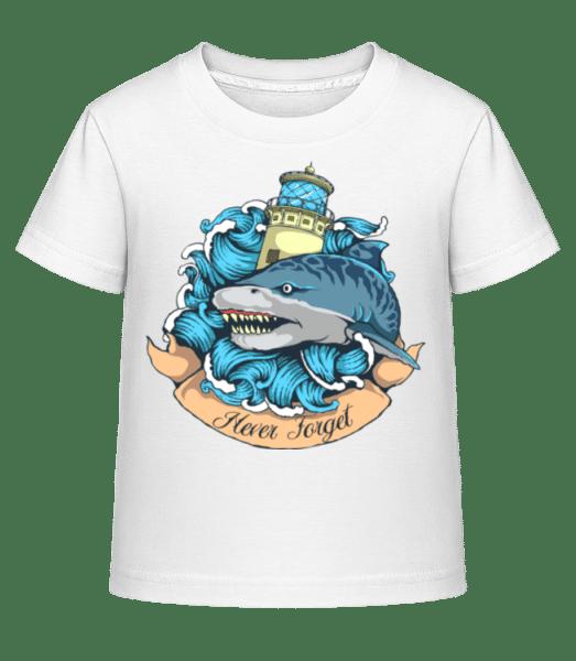 Tiger Shark - Kid's Shirtinator T-Shirt - White - Vorn