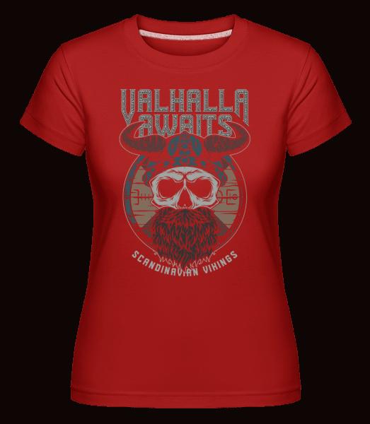 Scandinavian Vikings -  Shirtinator Women's T-Shirt - Red - Vorn