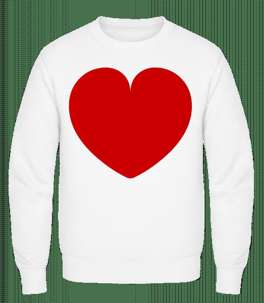 Love Heart - Classic Set-In Sweatshirt - White - Vorn